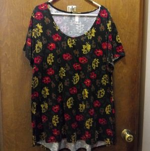 Lularoe black, red and gold classic t